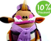 Eduard. a Great camel plush Troll winter Monster. Special for Christmas Days