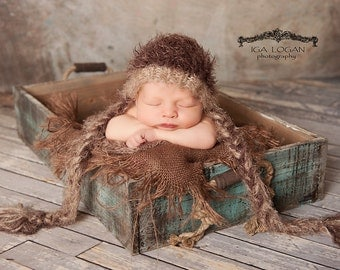 Burlap Layering Blanket Photography Prop Newborn Baby Photo Prop Mini Burlap Blanket Basket Filler basket Stuffer