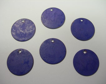 Blue Patina Drops Discs Earring Findings 6 - 15mm