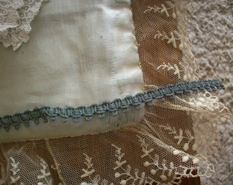 2 yards of a vintage silver dark metal trim ,more avail.