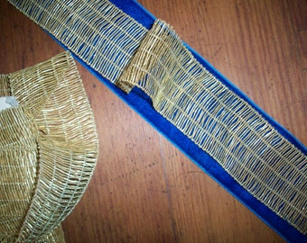 1 yard of an antique french gold brass metal trim, more avail.