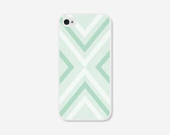 Geometric Phone Case - Mint Green Chevron Geometric iPhone 4 / 4s - 5 / 5s - 5c Case - iPhone 5c Case - iPhone 5 Case - iPhone 4s Case