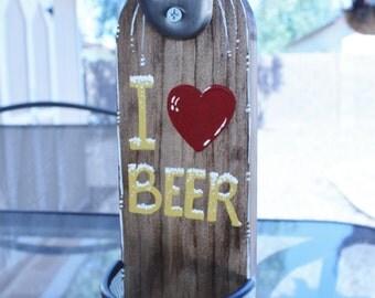 Beer Bottle Opener With Cap Catcher - Bottle opener