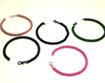 Chainmaille Jewellery, Chainmail Bracelet, JPL Weave, Choose Your Color, Copper Jump Rings
