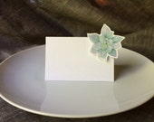 succulent Place Cards Escort Cards - Use for wedding Events dinner parties