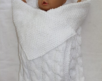 KNITTING PATTERN Initial Baby Blanket in PDF by theknittingniche