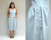 Chambray Dress  //  Overall Denim Dress  //  THE NASHVILLE