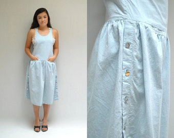 Denim Chambray Dress  //  Overall Dress  //  THE MINASTIC