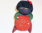 Vintage Black Baby Doll Pin Cushion, Home