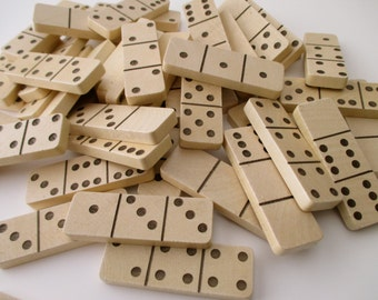 unusual 3-space dominoes - 9 pieces, game pieces, tiles