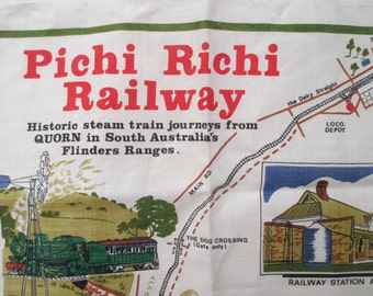 vintage  Pichi Richi dish towel- new, unused, Australia, made in Ireland