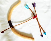 Handsewn Felt Bow and Arrow Playset - Great for costumes and pretend