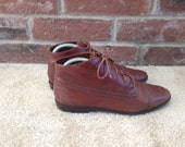 Size 7.5M Brown Ankle Boots