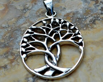Sterling Silver Winding Tree Of Life Pendant - Ancestry, Woodlands, Family, Children, Bond