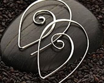 Sterling Silver Spiral Earrings - Findings, Earrings, Wire, Hook Earrings, C2255