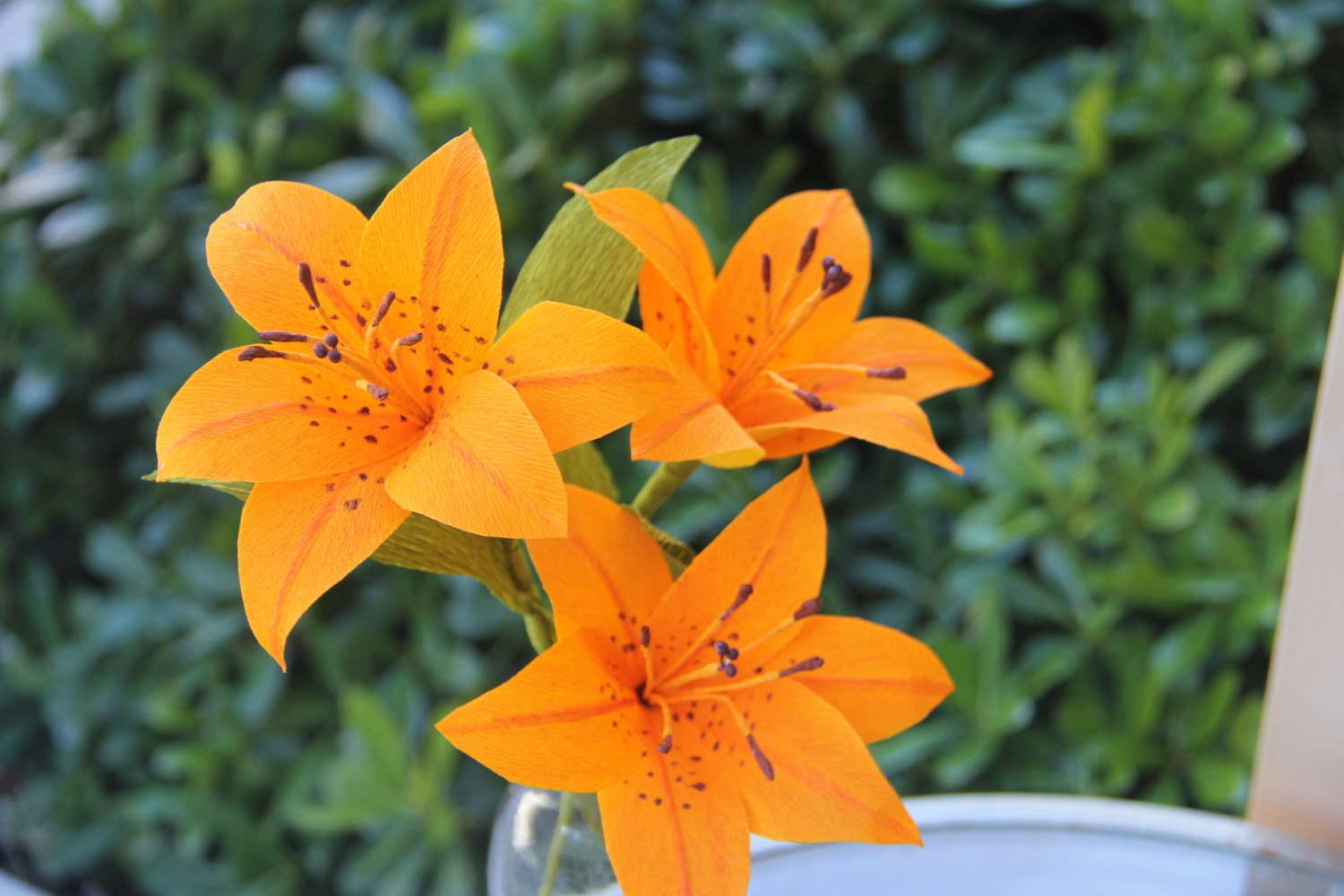 Tiger Lily flowers Paper lily Crepe Paper Lily wedding