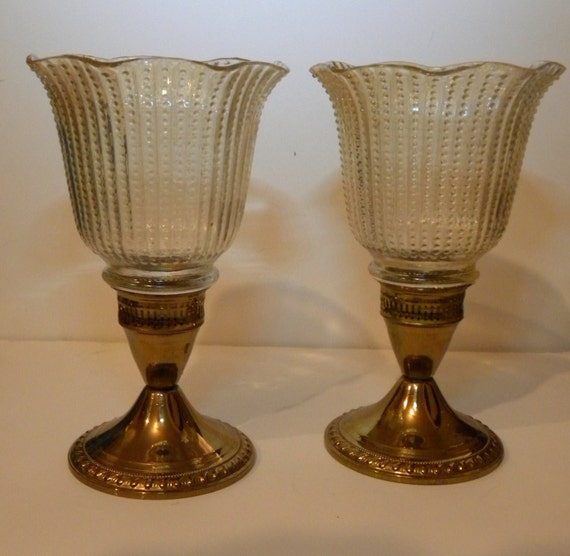 OOAK Upcycle Pair Victorian Candle Holders By FieldsOfVintage