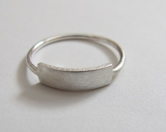 sterling silver rectangle ring