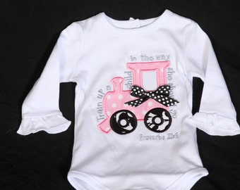 Baby Girl Bodysuit with Train