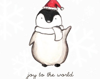 Christmas Penguin - christmas card
