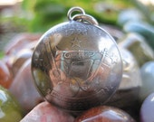 Domed Antiqued 2002 Tennessee Quarter Pendant with Handmade Sterling Silver Bail MADE TO ORDER.