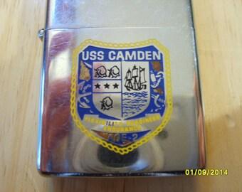 Zippo Lighter, USS Camden, 1978 Zippo, Vintage Lighter, Cigarette Lighter, US Navy