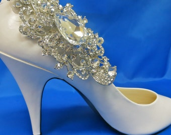 Wedding Shoe Clips, Bridal Shoe Clip, Crystal Shoe Clip, Rhinestone Shoe Clip, Bridesmaid Shoe Clip,  Shoe Embellishment