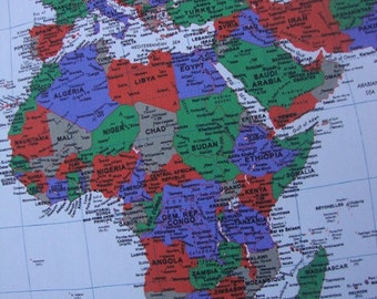 One piece of World map fabric is cover the world  and cities continent is one of several very large landmasses on Earth
