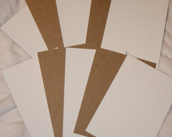 "20 white brown cardboard chipboard hair tie ties display cards 4.75"" x 3.25"""