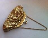 Vintage Gold Mesh Hand Bag