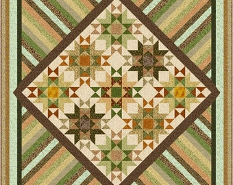 """SAHARA MIRAGE - 105"""" - Quilt-Addicts Pre-cut Patchwork Kit or Finished King size"""