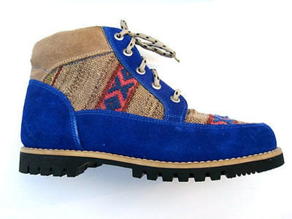 handmade hiking boots handmade peruvian suede hiking boots size 8 by 5422
