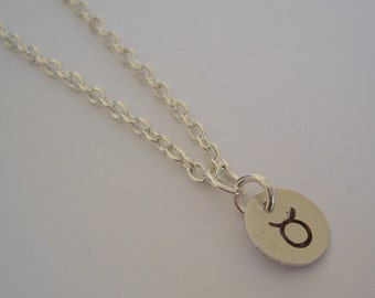 Taurus Star Sign Zodiac Necklace, Charm Necklace