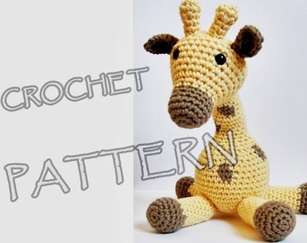 Amigurumi giraffe crochet pattern in US English