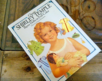 Classic Shirley Temple Paper Dolls in Full Color, Enlarge and Frame in Childs Room, Beautifully Illustrated with Movie Outfits