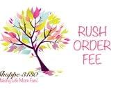 RUSH FEE for Tutus