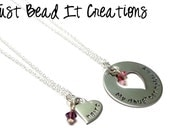 My Daughter Holds My Heart Necklace Set, Mother and Daughter Matching Set, Necklace Set