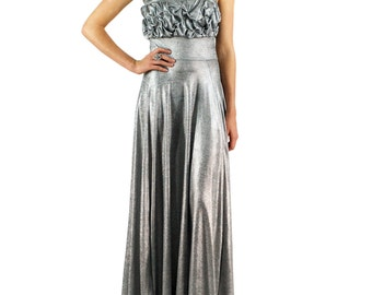 Women's Claudia Strapless Hand Gathered Maxi Gown