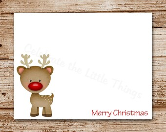 Christmas Cards | Reindeer Greeting Cards | Rudolph Inspired ...