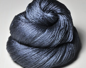 Stormy gray sea - Silk Lace Yarn