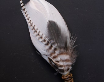 FREE SHIPPING -Grizzly Feather Boutonniere