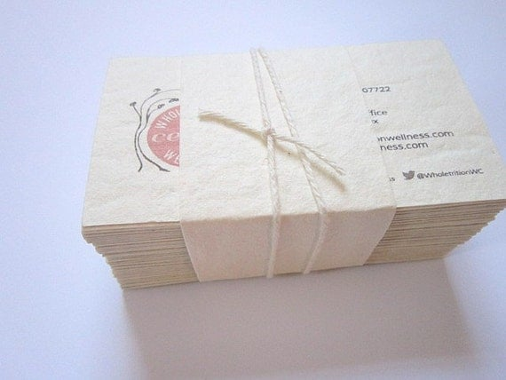 Handmade Paper Business Cards