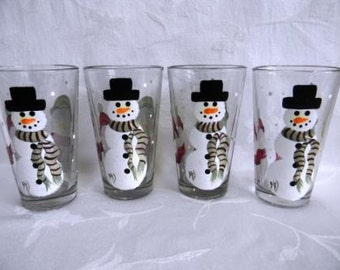 Popular items for hand painted glasses on etsy for Hand painted drinking glasses