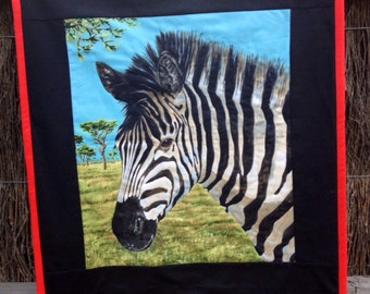 Sale! Zebra Wall Hanging Quilt