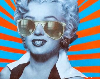 Marilyn Superstar - Original Collage