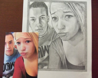 Custom Order...Pencil Sketches of people and animals. Email your photo.