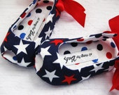 Patriotic girls shoes red white and blue shoes 4th of july girls sandals toddler girl shoes baby girl shoes patriotic baby - Seeing Stars