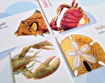Custom Business Cards, Business Cards, Seaside, Set of 50