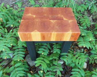 Butcher Block end, side table