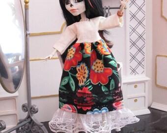 FRIDA  dress  for MONSTER High doll